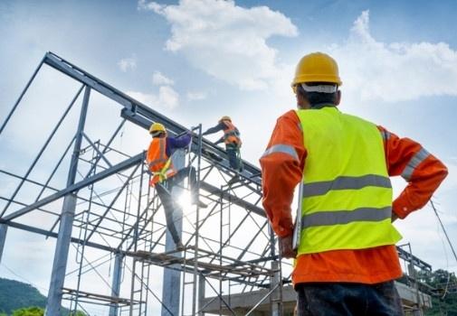 construction team building frame